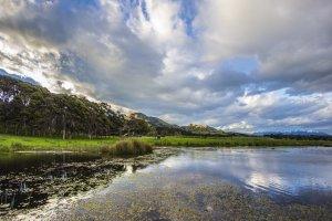 Sweeping sky over pond - Lansdowne Farm