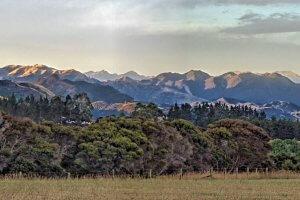 Seaward view of the Kaikoura Mountains