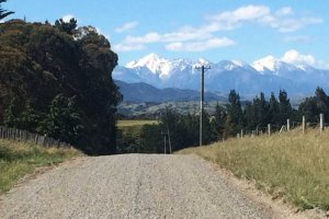 Kaikoura Mountains from the road
